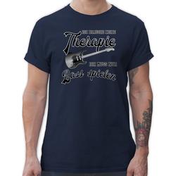 Shirtracer T-Shirt Ich brauche keine Therapie ich muss nur Bass spielen - Instrumente - Herren Premium T-Shirt 3XL