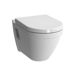 Alpenberger Waschbecken Vitra S50 WC mit WC -SItz inkl. Bidetschlauch weiß (Set, 2-tlg), Beschichtungsverfahren, Spülrandlos weiß