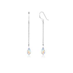 Elli Paar Ohrhänger Ohrhänger Tropfen Swarovski® Kristalle 925 Silber