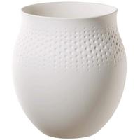 Villeroy & Boch Collier Blanc Vase Perle No. 1, 16,5x16,5x17,5 cm, Premium Porzellan, Weiß