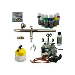 Airbrush-City Druckluftwerkzeug Nail-Art Airbrush Set - Ultra Airbrushpistole + Saturn Kompressor - Kit 9107, (1-St)