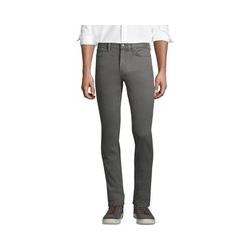 Farbige Komfort-Jeans, Slim Fit, Herren, Größe: 44 Normal, Grau, Baumwolle, by Lands' End, Felsengrau - 44 - Felsengrau