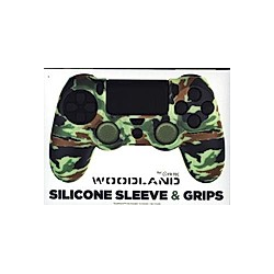 PS4 Silicone Skin + Grips Camo Woodland