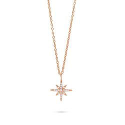Fiocco Jewelry Kette mit Anhänger Luna Kette rosa