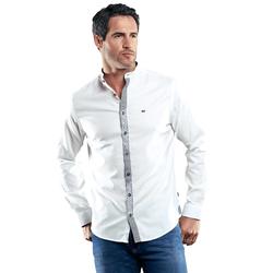 Hemd mit stylischer Knopfleiste Engbers Reinweiss