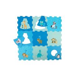 BIECO Steckpuzzle Bieco Puzzlematte 18 tlg. Spielmatte Baby XXL Puzzle Kinder Krabbeldecke Baby Spielmatte Kinder Turnmatte Kinder Kinder Teppiche Krabbelmatte Baby Buchstaben Lernen Spielteppich Junge, Puzzleteile