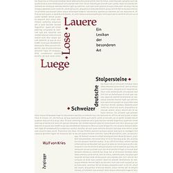 Luege, Lose, Lauere Schweizerdeutsche Stolpersteine