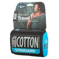 Sea to Summit Premium Cotton Travel Liner Double, navy blue