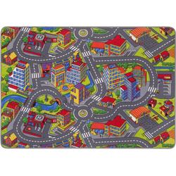 Kinderteppich Straße, Andiamo, rechteckig, Höhe 5 mm, Straßen-Spielteppich, Straßenbreite: 8,5 cm, Kinderzimmer 140 cm x 200 cm x 5 mm