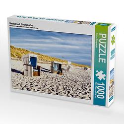Weststrand, Strandkörbe Lege-Größe 64 x 48 cm Foto-Puzzle Bild von Andrea Dreegmeyer Puzzle