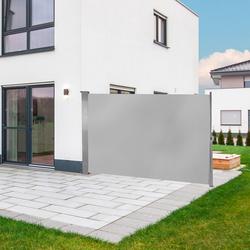 Seitenwandmarkise Seitenmarkise 160 x 300 cm Grau
