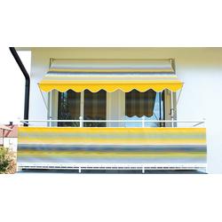 Angerer Freizeitmöbel Klemmmarkise, gelb-grau, Ausfall: 150 cm, versch. Breiten gelb Klemm-Markisen Markisen Garten Balkon Klemmmarkise