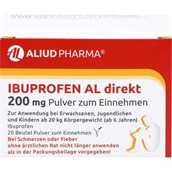 IBUPROFEN AL direkt 200 mg Pulver zum Einnehmen 20 St.