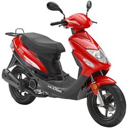 Luxxon Motorroller UNO, 49 ccm, 45 km/h, Euro 4 rot