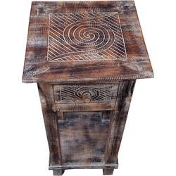Guru-Shop Couchtisch Telefontisch, Flurtisch - Spirale