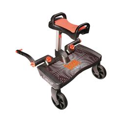 Lascal Kinderwagenaufsatz BuggyBoard Maxi+ schwarz mit Sitz rot schwarz