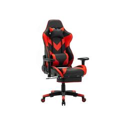 Woltu Gaming-Stuhl BS20, Racing Stuhl aus Kunstleder Modell BS20 rot