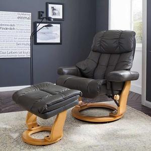 Leder Relaxsessel in Schlamm Hocker (2-teilig)