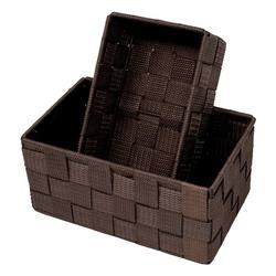 Lashuma Aufbewahrungskorb (Set, 2 Stück), 1x Badkorb 19x10x7 cm, 1x Aufbewahrungsbox 20x13x10 cm braun 19 cm x 7 cm x 10.00 cm