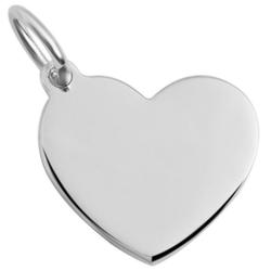 Adelia´s Kettenanhänger Anhänger Gravur Herz aus 925 Silber