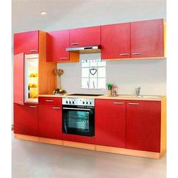 RESPEKTA Küchenzeile Basic, mit Glaskeramik-Kochfeld, Breite 270 cm rot