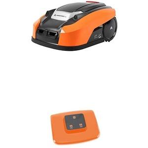 Yard Force Mähroboter LUV 1000Ri bis zu 1000 qm - Selbstfahrender Rasenmäher Roboter mit WLAN-Verbindung, App-Steuerung, iRadar Ultraschallsensor, Kantenschneide-Funktion mit WLAN-Routern
