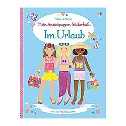 Mein Anziehpuppen-Stickerbuch - Im Urlaub. Lucy Bowman  - Buch