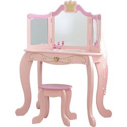 Frisiertisch & Hocker Prinzessin, rosa