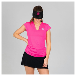 BIDI BADU T-Shirt mit ausgefallenem V-Ausschnitt Bella rosa M