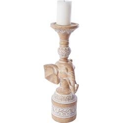 Home affaire Kerzenhalter Elefant beige Kerzen Laternen Wohnaccessoires