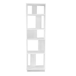 Weißes Regal aus Stahl 200 cm hoch