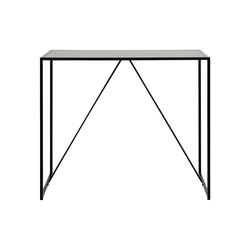 Designer-Stehtisch aus schwarzem Holz und Metall TRESCA