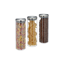 relaxdays Vorratsglas Vorratsglas 3er Set 1,8 Liter, Glas