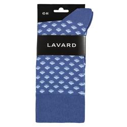 Lavard Blaue, gemusterte Socken 73929  42-44