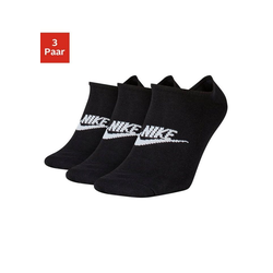Nike Sneakersocken (3-Paar) mit Logo auf dem Mittelfuß schwarz L (42/46)