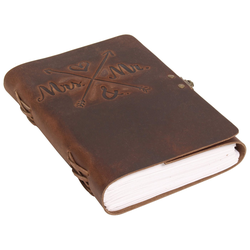 Gusti Leder Notizbuch Aage, Gästebuch Tagebuch Hochzeit Poesialbum Buch buch mit Zitat DIN A5
