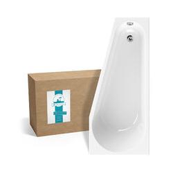 ® Raumsparende Eckbadewanne 160x70 cm, Acrylwanne Essential Small, platzsparende Badewanne in
