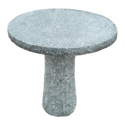 Dehner Gartenbank Granit-Tisch, Ø 75 cm, Höhe 75 cm, grau