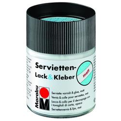 MARABU Servietten Lack & Kleber   matt Decoupage & Serviette 1140 05 843, farblos, 50ml