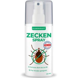 Silberkraft Zeckenspray 2 x 100 ml, Anti-Zecken-Mittel, Schutz vor Zecken und Mücken, für Körper und Kleidung, Abwehr und vertreiben, mit Zitronen-Duft