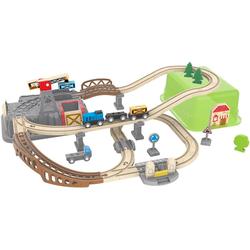 Hape Spielzeug-Eisenbahn Eisenbahn-Baukasten, (Set, 50-tlg)