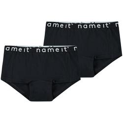 Name It Slip Hipster Panty 2er Pack Unterhose kurz NKFHIPSTER schwarz 110/116