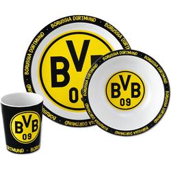 Borussia Dortmund Kindergeschirr-Set BVB-Bambus-Geschirr-Set (3er Set)