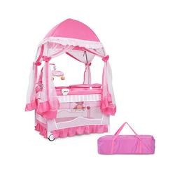 COSTWAY Kinderbett Reisebett Babybett mit Laufstall