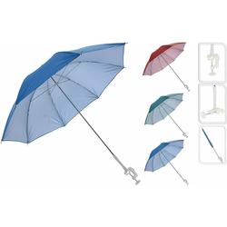 Meinposten Sonnenschirm für Buggy Sonnenliege Balkonschirm Kinderwagen Ø 100 cm UV Schutz, mit Halterung rot