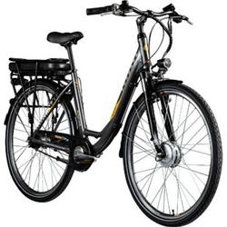 Zündapp Z502 700c E-Bike Citybike Pedelec 28 Zoll E Damenfahrrad Elektrofahrrad Tiefeinsteiger... grau/orange, ohne Korb