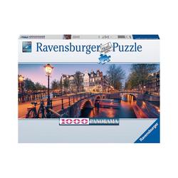 Ravensburger Puzzle Panorama-Puzzle Abend in Amsterdam, 1.000 Teile, Puzzleteile