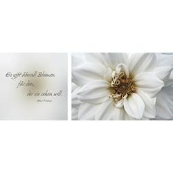 Leinwandbild Blumen, (Set), 2er-Set