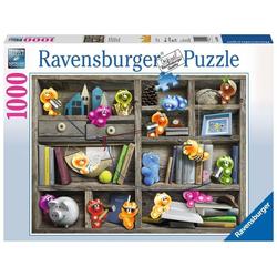 Ravensburger Puzzle 19483 Gelini im Bücherregal 1000 Teile Puzzle, Puzzleteile