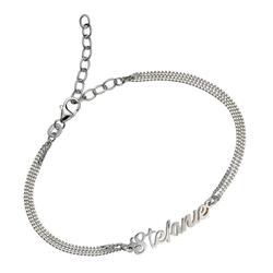 Firetti Armband Namenskette als Armband in Panzerkettengliederung